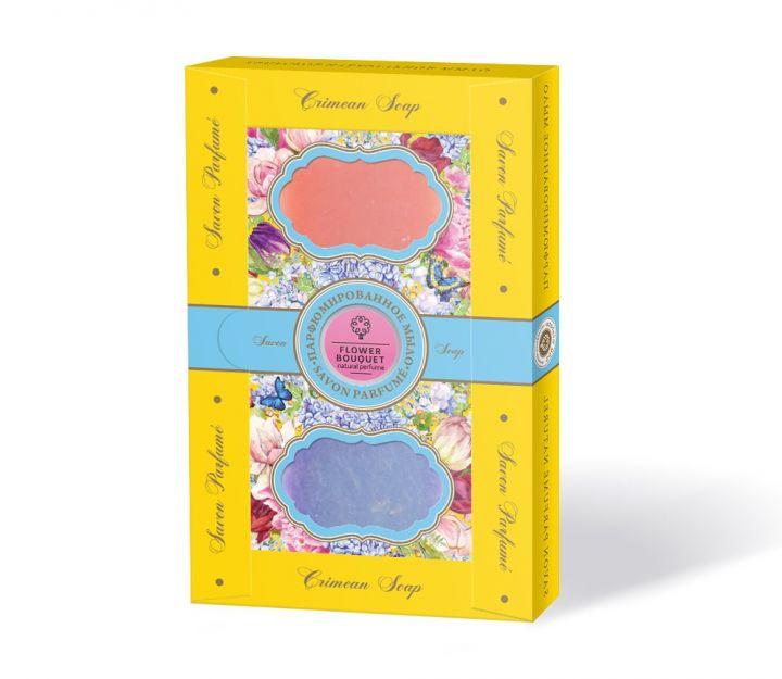 """Подарочный набор Парфюмированное мыло """"Цветущий сад"""" гортензия-пион"""