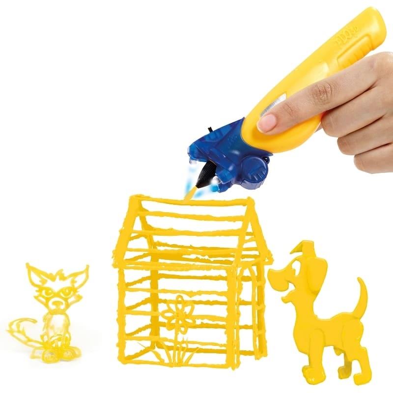 Набор для объёмного рисования I Do 3D Vertical, 3 ручки, желтый