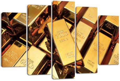 Модульная картина Слитки золота
