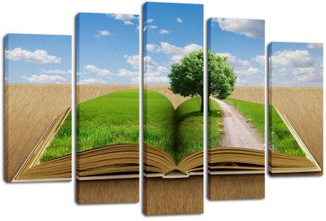 Модульная картина Зеленая книга
