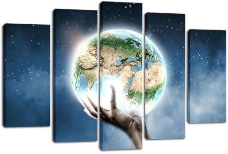 Модульная картина Земля в руке