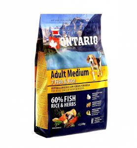 Ontario Для собак с 7 видами рыбы и рисом