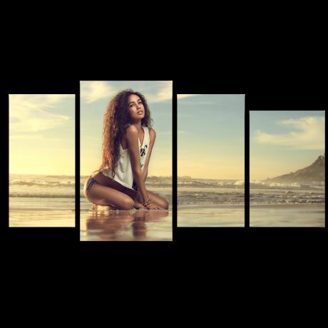 Модульная картина Девушка и море