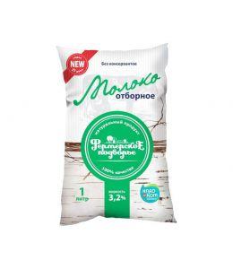 Молоко ФЕРМЕРСКОЕ ПОДВОРЬЕ 3,2% финпак 1л