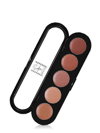 Make-Up Atelier Paris Lipsticks Palette 03 Sandy pink Палитра помад из 5 цветов №03 песочно - розовая гамма