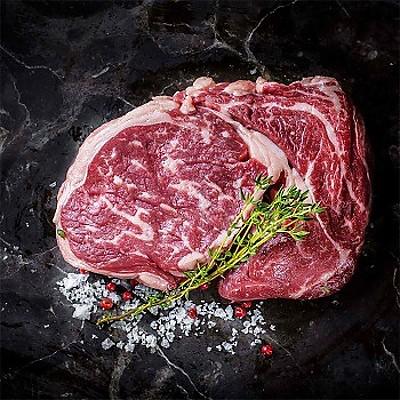 Стейк Рибай из мраморной говядины выдержанный (1 кг)