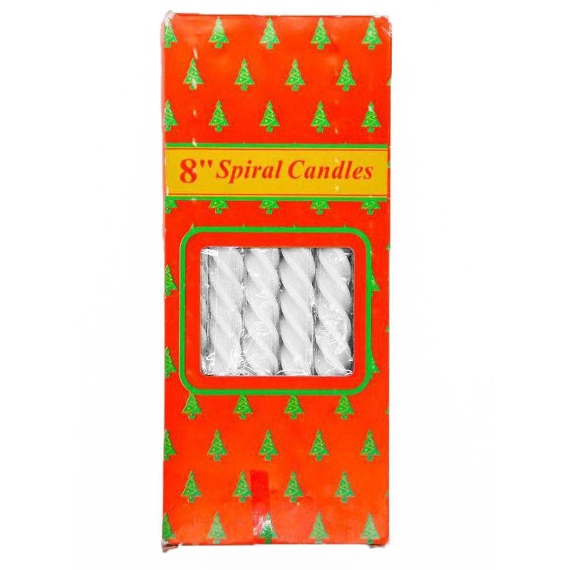 Свечи парафиновые витые Spiral Candles 20см 12шт (цвет белый)