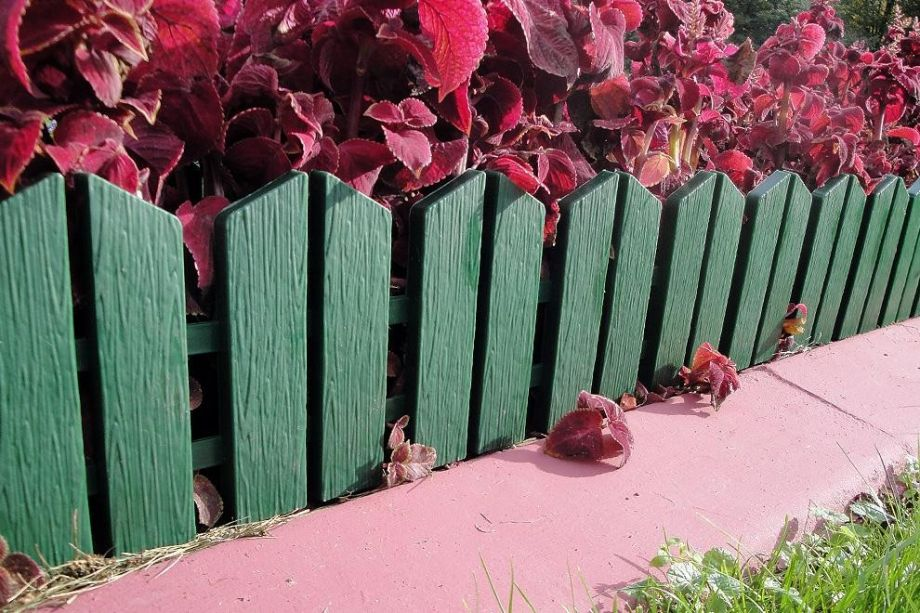 Бордюр Летний сад 16х300 см, 7 секций, цвет Зеленый