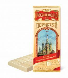 Шоколад РУССКИЙ ШОКОЛАД Пористый белый 90г
