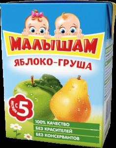 ДП Нектар МАЛЫШАМ Яблоко/груша неосветленный 200г