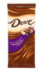 Шоколад DOVE Молочный фундук/изюм 90г