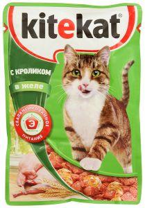Корм для кошек KITIKАT Пауч кролик в желе 85г
