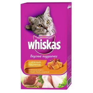 Корм для кошек WHISKAS подушечки курица/индейка 350г