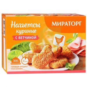 Наггетсы куриные МИРАТОРГ С ветчиной 300г