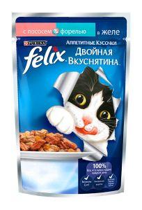 Корм для кошек FELIX Лосось/форель 85г