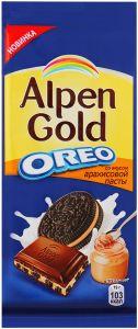 Шоколад ALPEN GOLD OREO Cо вкусом арахисовой пасты 95г