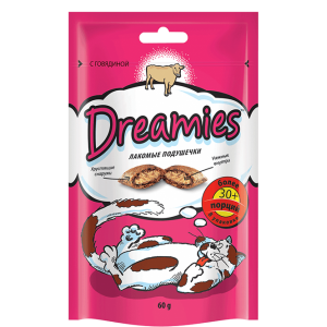 Корм для кошек DREAMIES с говядиной 60г
