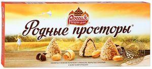 Шоколадный набор РОССИЯ Родные просторы арахис/вафельная крошка 125г