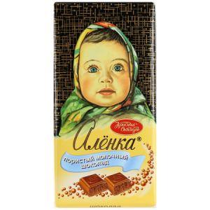 Шоколад АЛЕНКА пористый молочный Красный октябрь 95г