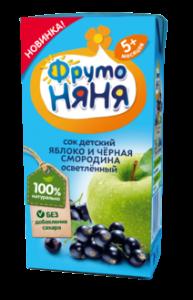 ДП Сок ФРУТОНЯНЯ Яблоко/черная смородина осветленный 200мл