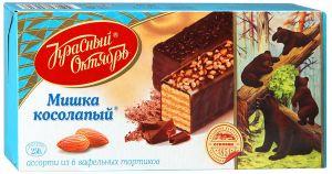 Торт вафельный МИШКА КОСОЛАПЫЙ Красный Октябрь 250г