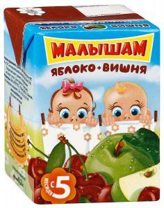 ДП Нектар ФРУТОНЯНЯ МАЛЫШАМ Яблоко/вишня осветленный с 5 мес 200г
