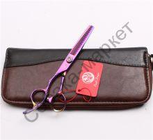 Ножницы филировочные 6 дюймов Purple Dragon серия Шайн