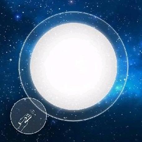 Светильник Estares накладной светодиодный Saturn 25WR(2200lm) 2K-4K-6K d405x55мм IP44 с пультом ДУ без канта558316