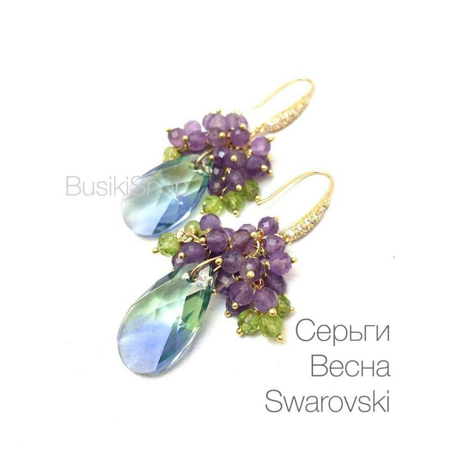 "Серьги ""Весна"" Swarovski"