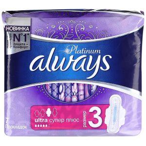 Прокладки ALWAYS Ultra 7шт Platinum Super Plus Single