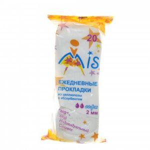 Прокладки ежедневные Mis целлюлоза с абсорбентом софт 2616