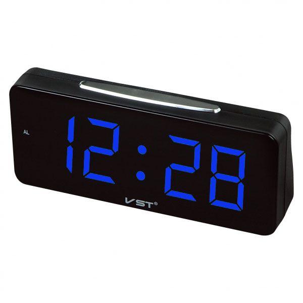 Часы эл. VST763T-5 син.цифры