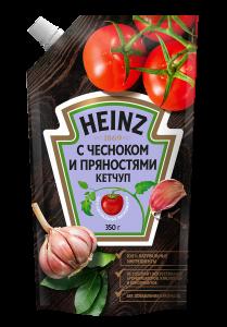 Ketcup Heinz sarımsağlı və ədviyyatlı 350 gr