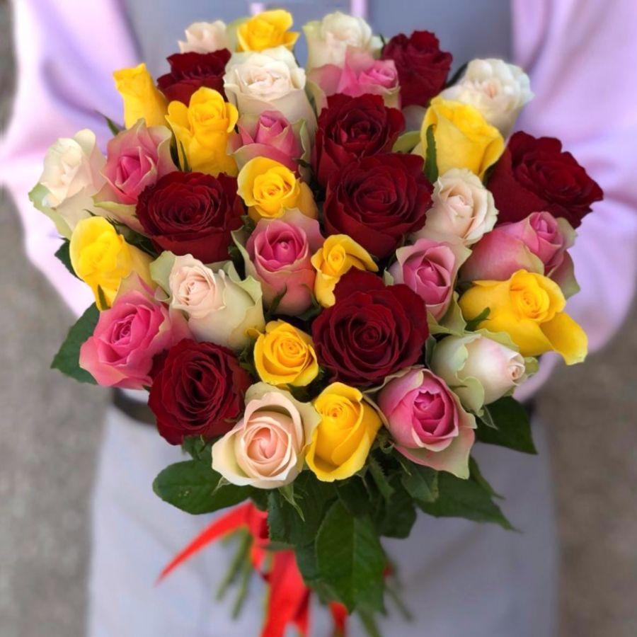 Акция! 35 кенийских роз микс