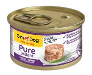 GimDog Pure Delight консервы для собак из цыпленка с тунцом 85 г