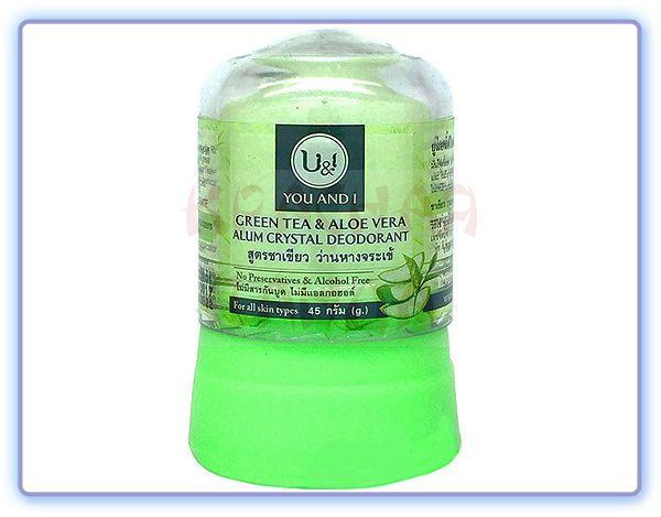 Дезодорант U&I кристаллический с зеленым чаем и алоэ вера