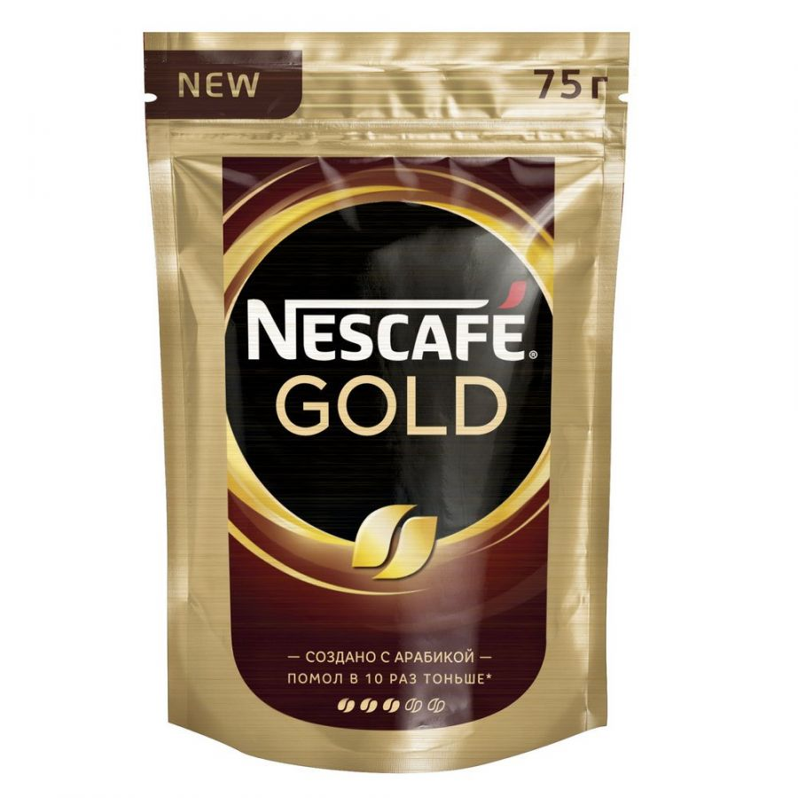 Кофе Nescafe Gold пакет, 75 г