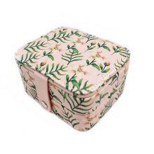 Компактная шкатулка для ювелирных изделий, Цвет: Розовый, Орнамент: Лилия