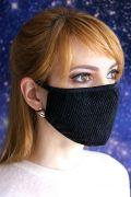 эксклюзивная маска для лица с украшением из сетки
