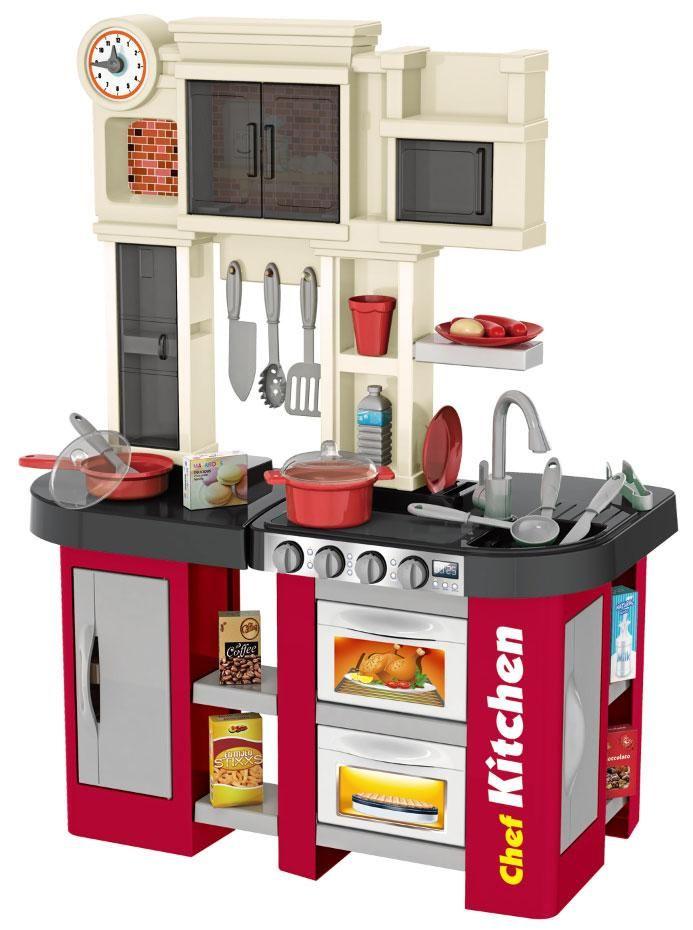 """922-103 Детская кухня игровая с буфетом, со светом,с водичкой Talented Chef Kitchen """"Гранат"""""""