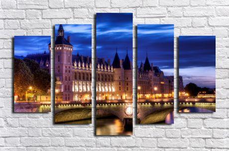 Модульная картина город 11