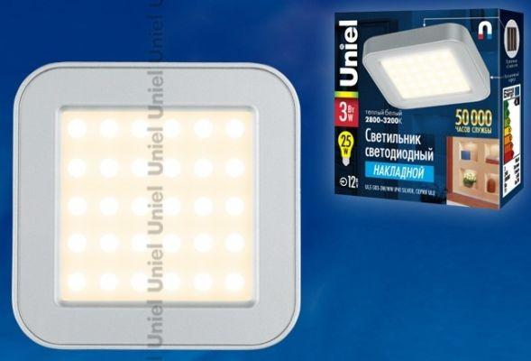 Светильник светодиодный Uniel 3W ULE-S03-3W/WW IP41