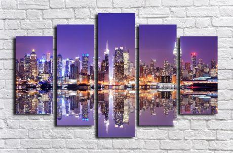 Модульная картина город 26