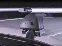 Багажник на крышу Volkswagen Polo sedan 2010-..., Евродеталь, крыловидные дуги