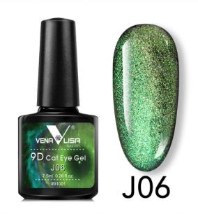 """Гель лак Venalisa """"Кошачий глаз - 9D Galaxy"""" Магнитный гель-лак #06"""