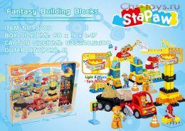Конструктор StaPaw Urban Construction Стройка со светом и звуком 3709 (Аналог LEGO DUPLO) 131 дет