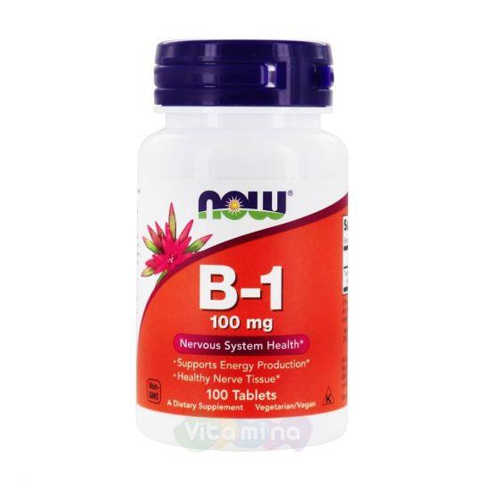 Now Foods Vitamin B1 (Витамин В-1) 100 мг, 100 табл.