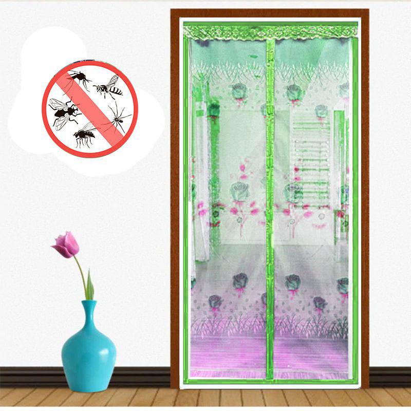 Москитная сетка на дверь на магнитах, цвет зелёный