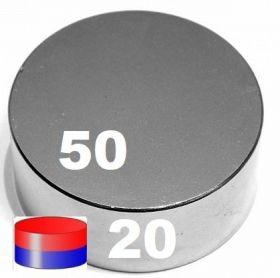 Магнит неодимовый 50х20 мм