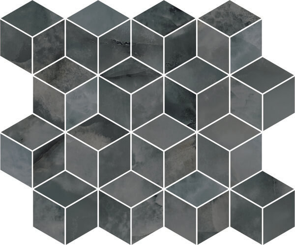 T017/14024   Декор Джардини серый темный мозаичный